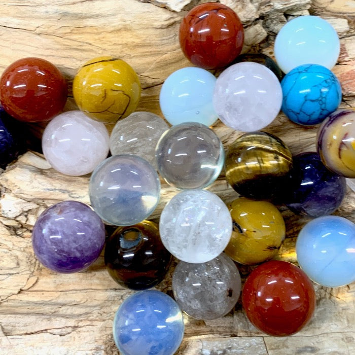Assorted Gemstone Marbles