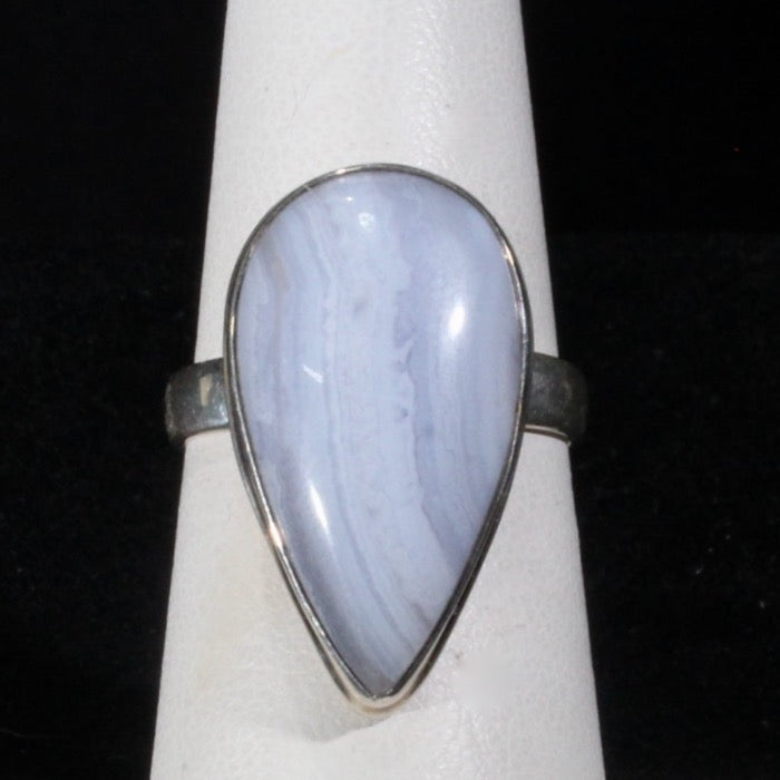 Ring blue lace agate size 7