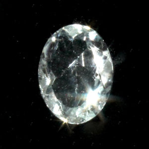 Aquamarine faceted gemstone (oval) 1.80 cts
