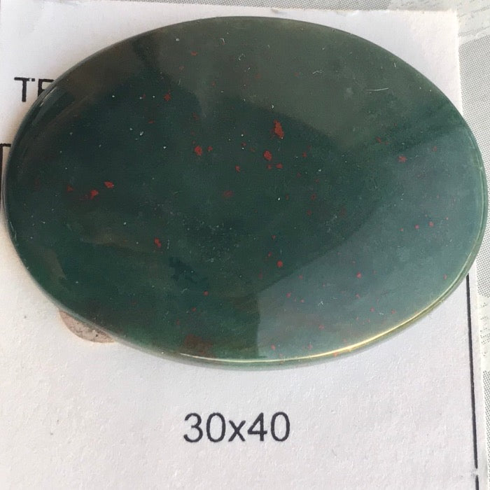 30x40mm Bloodstone Cabochon
