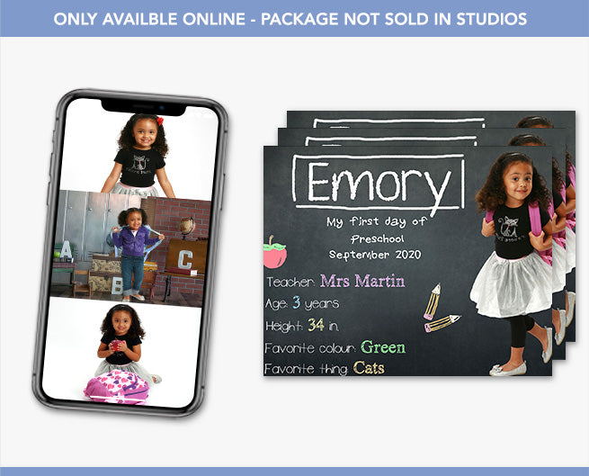 Back to School Portrait Packages - 4 Great Options!