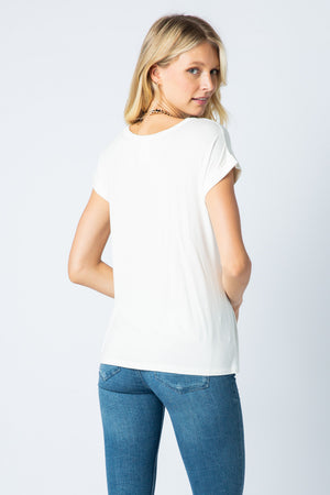 Vocal Blouse Short Sleeve Off White