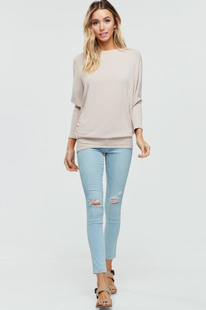 Off The Shoulder Dolman Sleeve Comfy Tunic