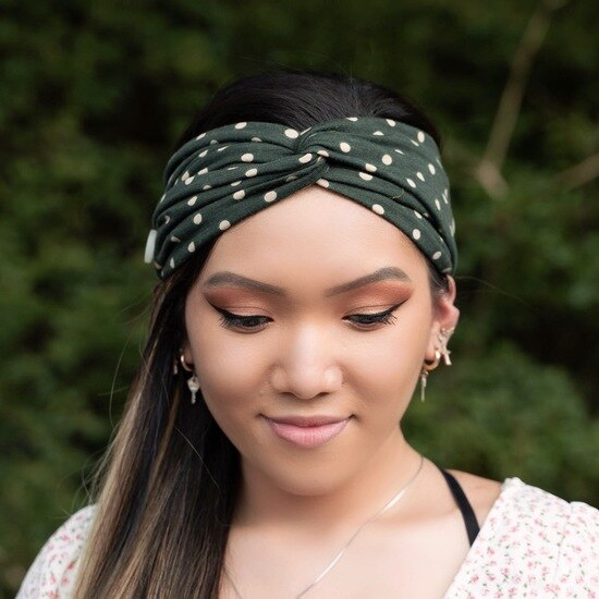 Roxy Fashion Headband - Polka Dot Green