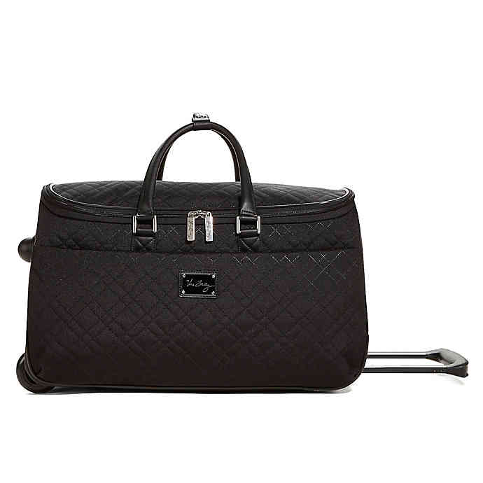 Vera Bradley 22-Inch Roll Along Duffel in Black