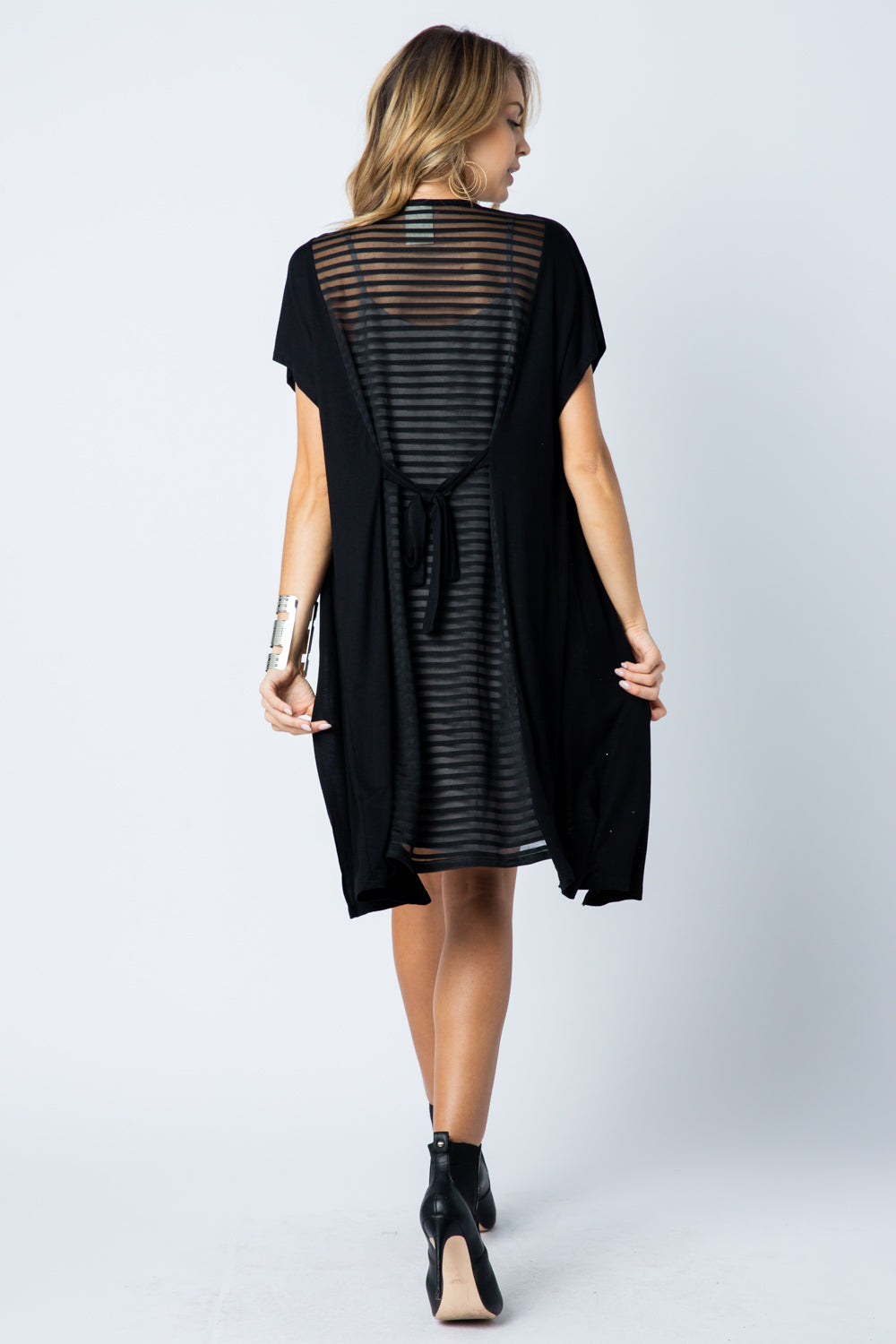 Cardigan Cap Sleeve Black