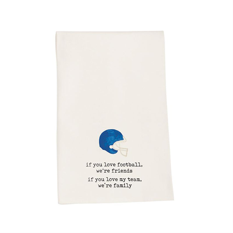 Football Helmet Dish Towel