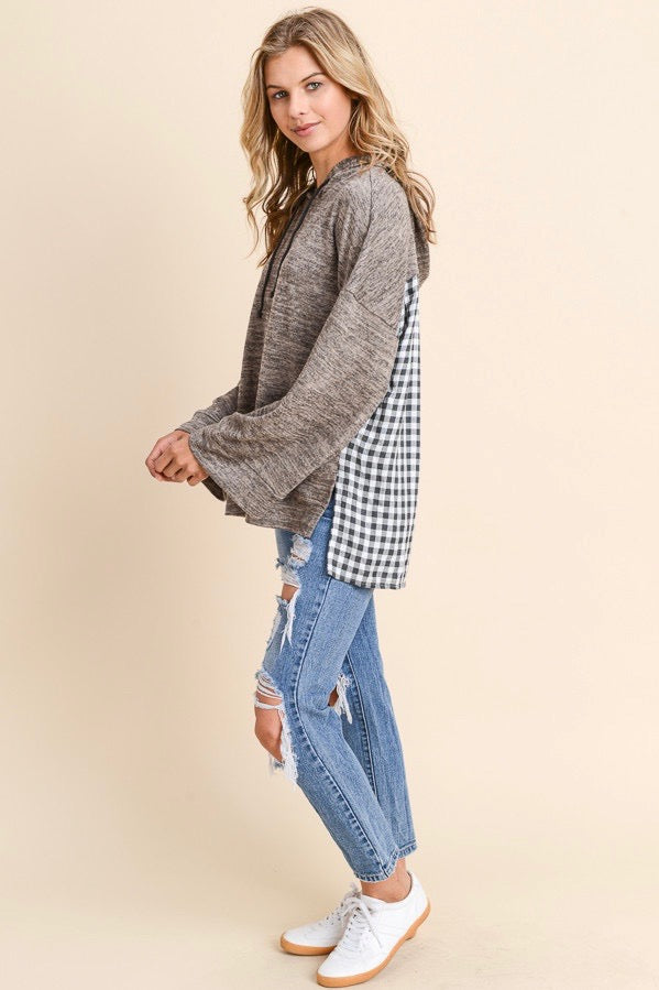 Flannel Oversized Hoodie
