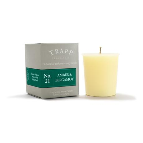 Trapp Amber & Bergamot Candle Votive 2oz - 4 Pack