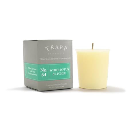 Trapp White Lotus & Lychee Candle Votive 2oz - 4 Pack