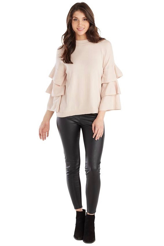 Dawson Ruffle Sleeve Sweater