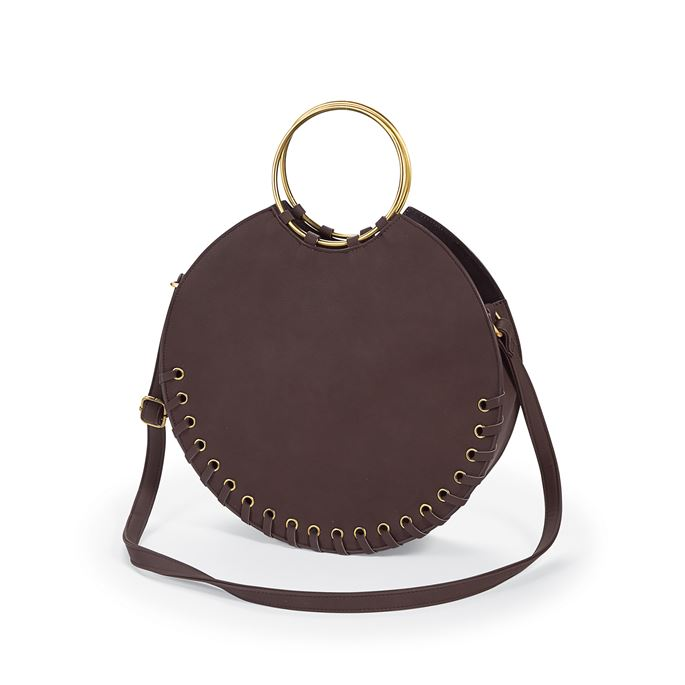 Circle Tote Faux Leather