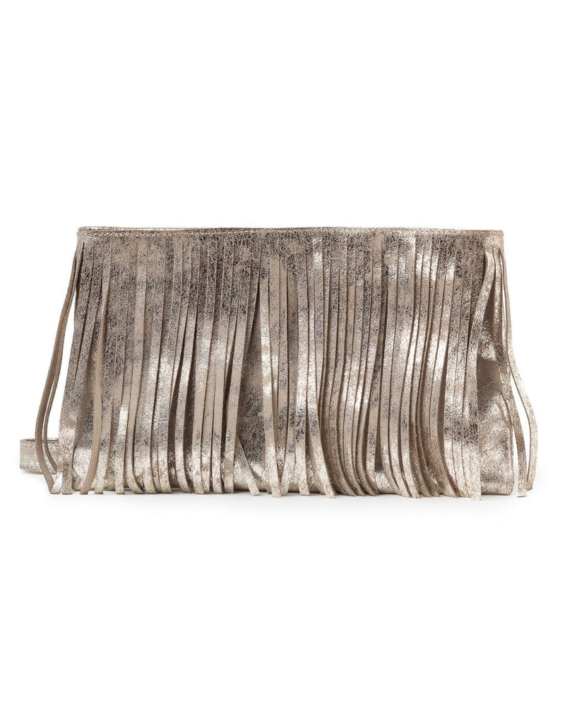 CoFi Metallic Fringe Bag