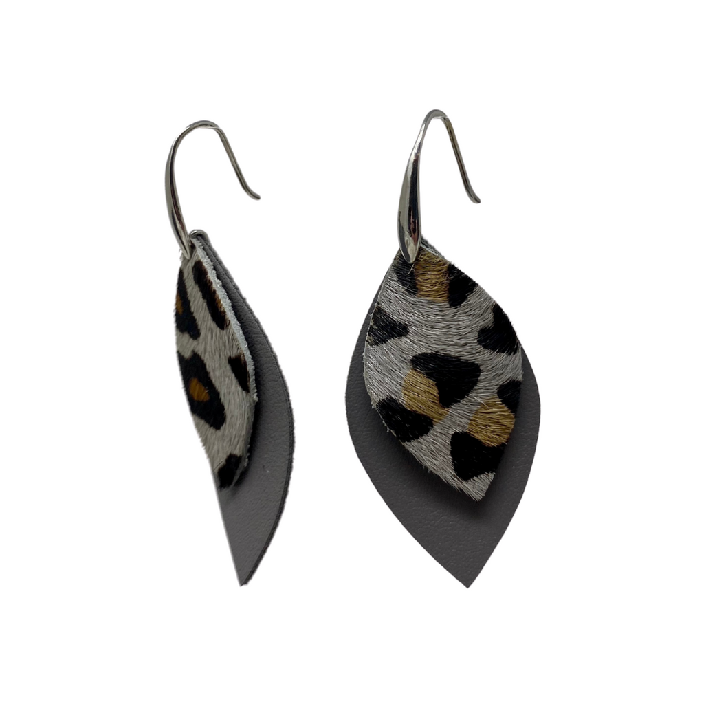 Double Layer Cheetah Earrings