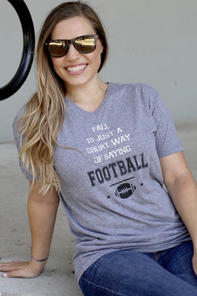 Fall is Football V-Neck T-Shirt