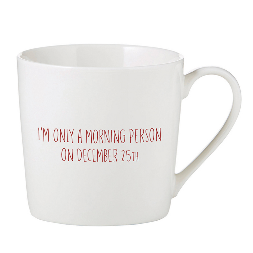 Morning Person Holiday Mug
