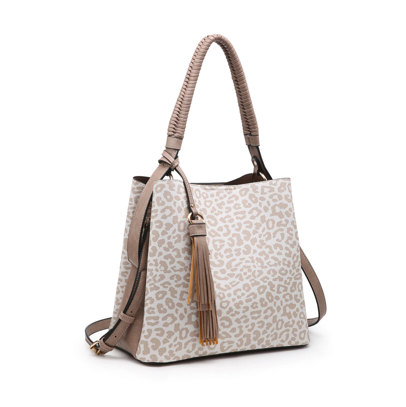 Olivia Animal Print Contrast Hobo