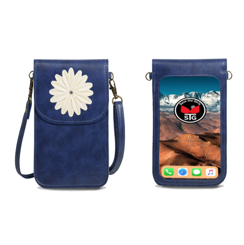 Daisy Vertical Cellphone Crossbody