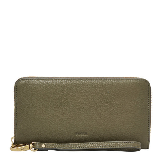 Emma Large Zip Clutch in Rosemary