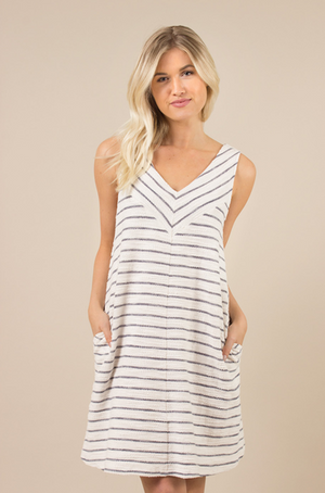 Terry Stripe Dress