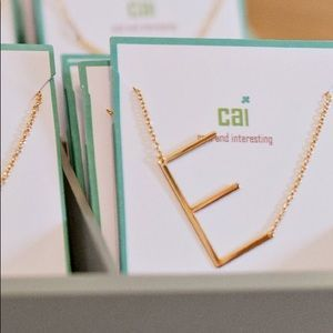CAI Large Sideways Initial Necklaces