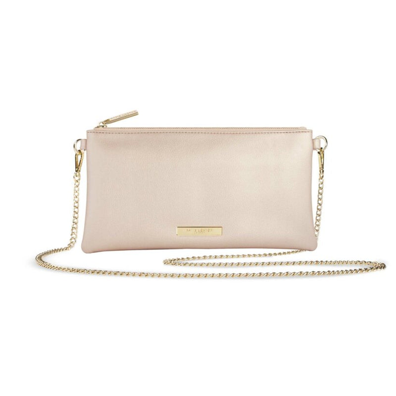 Katie Loxton Freya Crossbody Bag in Metallic Champagne
