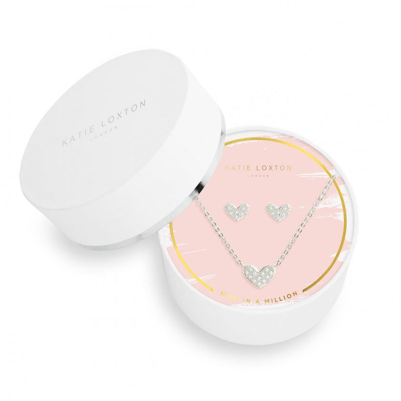 Katie Loxton Sentiment Set | Earrings And Necklace | Mom In A Million