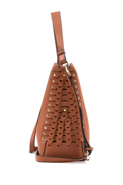 Jamie Tote Saddle Brown Vegan Leather Shoulder Bag