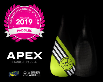 Werner Paddles Apex wins Best Paddle award at Paddle Expo 2019.