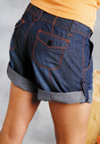 WOMENS DENIM BLUE SHORTS