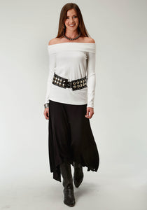 WOMENS BLACK SOLD SKIRT