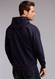 MENS NAVY BLUE WITH 1986 ROPER SCREEN PRINT HOODED SWEATSHIRT