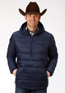 MENS OUTERWEAR POLY FILLED NYLON PULLOVER JACKET