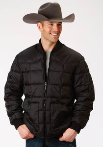 MENS BLACK POLY-FILLED JACKET