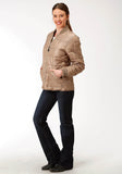 WOMENS KHAKI POLY-FILLED JACKET