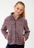 GIRL PURPLE MICRO FLEECE JACKET