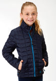 GIRLS BLUE POLY FILLED NYLON JACKET