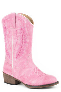 LITTLE GIRLS ALL OVER FUCHSIA BOOT