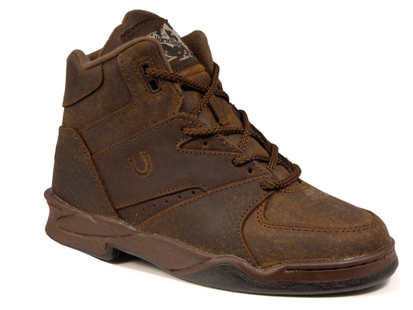MENS HORSESHOE BROWN PIG SUEDE LEATHER