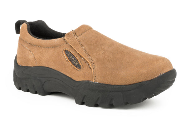 MENS PERFORMANCE SLIP ON TIMELESS BASIC TAN LEATHERS