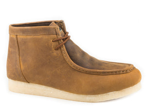MENS GUM SOLE CHUKKA BROWN CRAZY HORSE LEATHER
