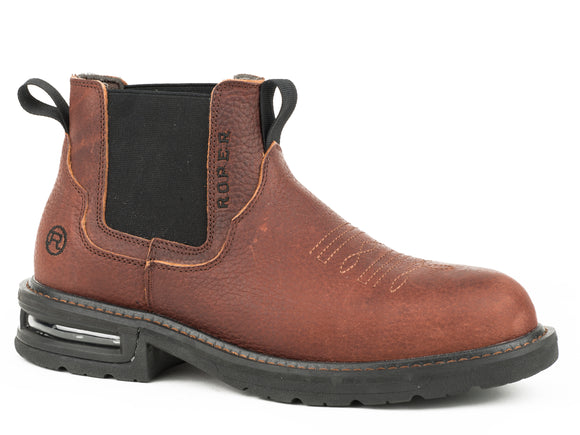 MENS AIR BOTTOM SOLE WORKBOOT BROWN OILED AND TUMBLED LEATHER