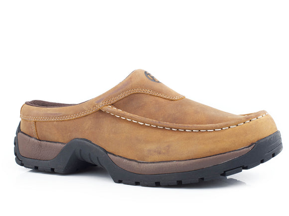 MENS PERFORMANCE LITE SOLE SLIP ON OILED TAN LEATHER WITH REMOVABLE INSOLE AND STIRRUP SHANK