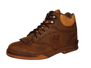 WOMENS KILTIE HORSESHOE BROWN AND AMBER WITH STEEL SHANK
