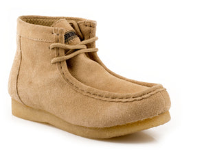 WOMENS GUM SOLE CHUKKA TAN SUEDE LEATHER