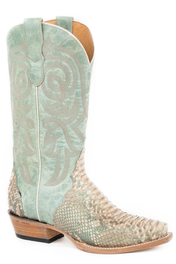 WOMENS EXOTIC LEATHER TORNASOL PYTHON VAMP MINT TONASOL UPPER