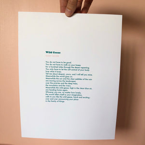 Wild Geese by Mary Oliver - Free Printout