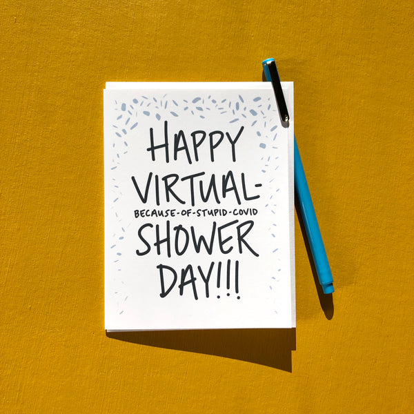 Covid Virtual Baby Shower Card
