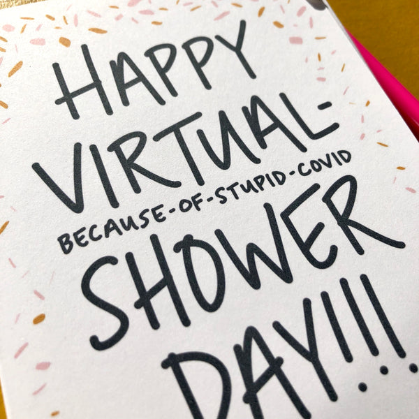 Covid Virtual Bridal Shower Card