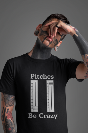 Pitches Be Crazy Mens Unisex Premium DJ T-Shirt